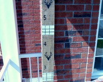 Growth chart (toise), rustic chic deer, personalized wall decor, children's room or baby, made in Quebec, high quality