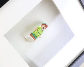 Disney Peter Pan LEGO Minifigure Art Frame