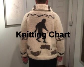Sasquatch Sweater Knitting Chart