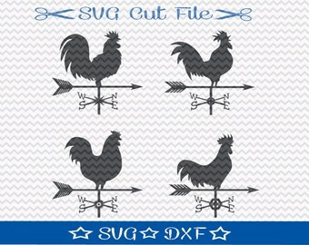 Farmhouse SVG, Weathervane SVG File Download, SVG Cut File for Silhouette or Cricut , Weather Vane svg