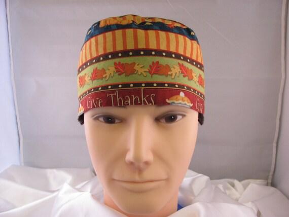 Men's Scrub Hat Thanksgiving