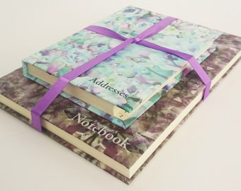 Stationary Gift Set of Two - A5 Hardback Journal and A6 Address Book