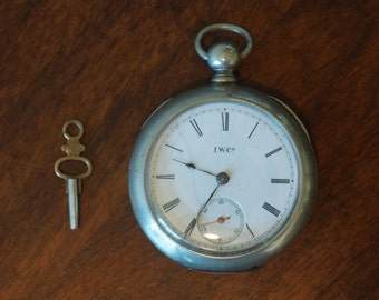Vintage Antique Illinois Pocket Watch with Key, Working! Illinois Watch Company