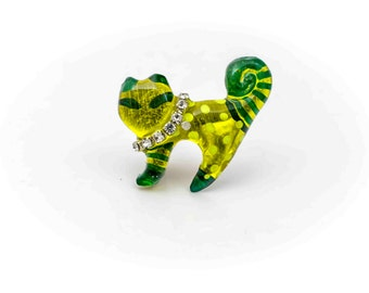 RESIN BROOCH CAT #0609