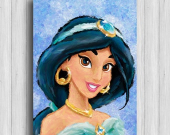 Princess Jasmine poster disney princess painting girl room decor