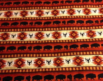 Baby Quilt with Buffalo Design