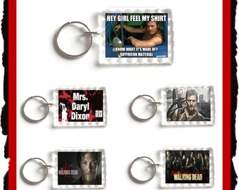 The Walking Dead Keyring,Keychain,Birthday,Valentine,Christmas,Gift,Love Daryl Dixon,Walking Dead,Easter Gift