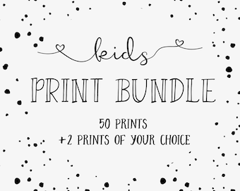 KIDS PRINT BUNDLE for a limited time -