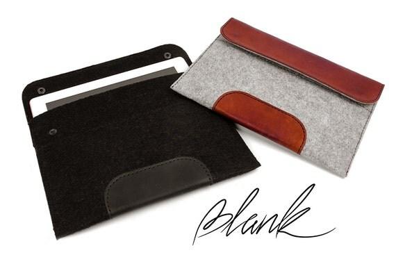 iPad pro 9.7 case - Black iPad case - iPad air 2 case - iPad air case - pro case - Black leather iPad case black felt iPad sleeve iPad cover