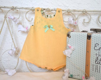 Romper in linen and Liberty of London 3/6months