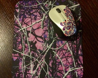 Pink Muddy Girl Camo Mousepad