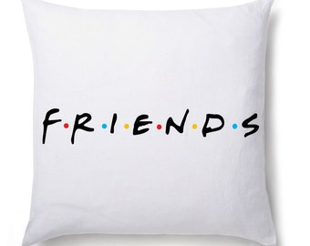 Friends Logo Printed Cushion Cover Gift Birthday