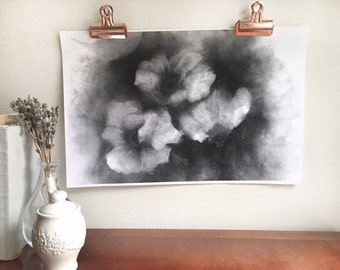 Charcoal Poppies