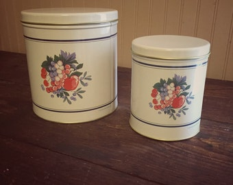 1990 Hallmark Canister Set of 2