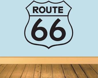 Route 66 Vinyl Wall Art