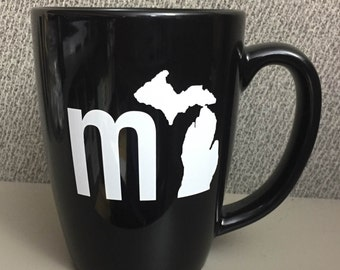 MI Set of 2 Michigan Mugs - Black