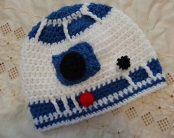 Star Wars R2D2, BB-8, Yoda,  Stormtrooper, crochet hat, bennie