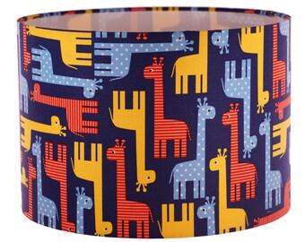 Lamp Shade, Colourful, Colourful Giraffes, Home Decor, Modern Lamp Shade, Giraffes, Lighting, Shade
