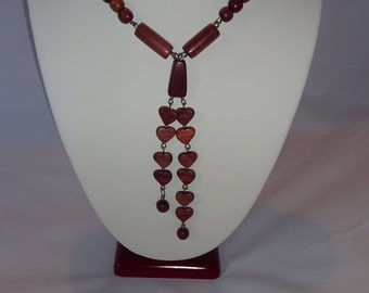 Exotic Hand made wood  necklace and earring.