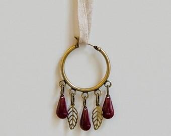 Tuli Earings - Purple, blue, black