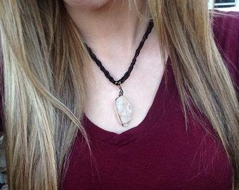 wrapped chrystal pendant
