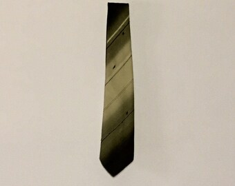 1980's Vintage St Michael Grey Tone Patterned Tie