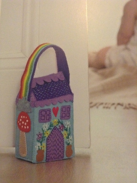 Fairytale house door stop, perfect for girls room, baby nursery, gifts for Christmas, gifts for birthday, I believe in fairies