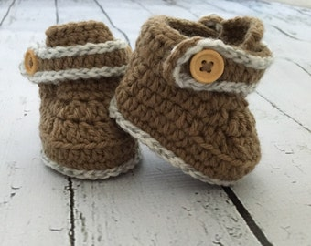 Handmade. Crochet. Baby Booties. 0-3 month