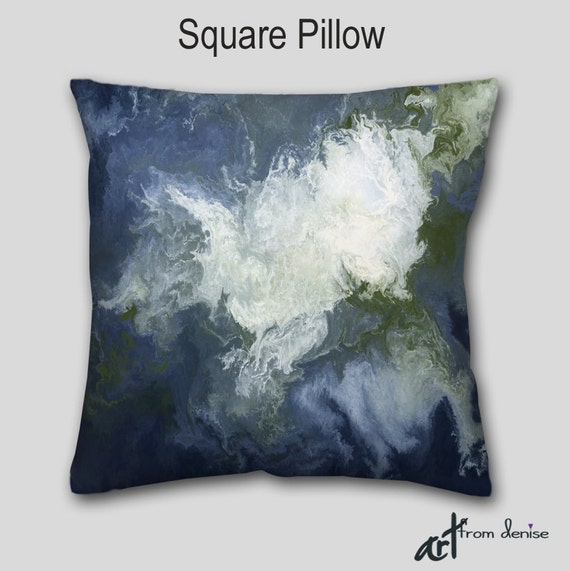 Olive Green And Blue Throw Pillows : Square accent pillow Olive green Navy blue Decorative throw
