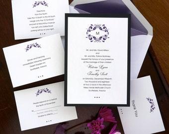 Tuxedo Wedding Invitation Set - Digital Invitation Suite - Digital Wedding Invite - Custom Wedding Invitations - AV100