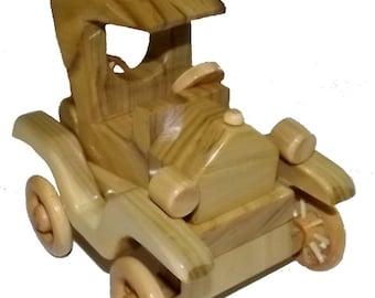 Wooden Model-T Car