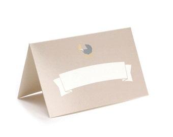 Blush Pink Baby Shower Place Cards / Gender Reveal Party / Tented Place Cards / Baby Shower Name Cards / Little Birdie /Set of 12