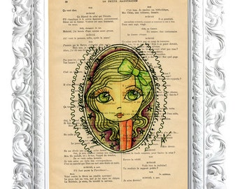 Dreams. Print on French publication of illustration. 28x19cm.