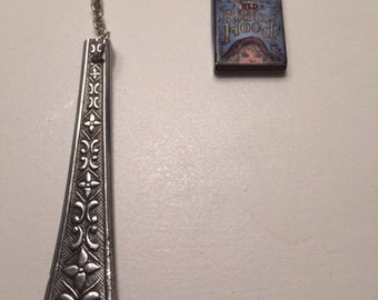 Vintage Spoon Handle Bookmark with Miniature Little Red Riding Hood Book Charm