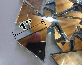 "1"" Triangle silver mirror glass mosaic tiles. 275 pcs"