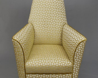 Art Deco Rocking Armchair fully restored and reupholstered