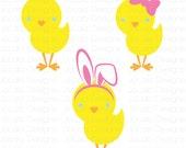 Easter Chicks SVG Download File