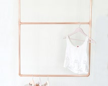 Copper Pipe Hanging Clothing Rail Display / Clothes Storage / Shop Display