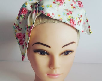 White Cath Kidston Flowers Pin Up Hair Tie
