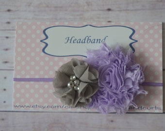 Double flower baby headband