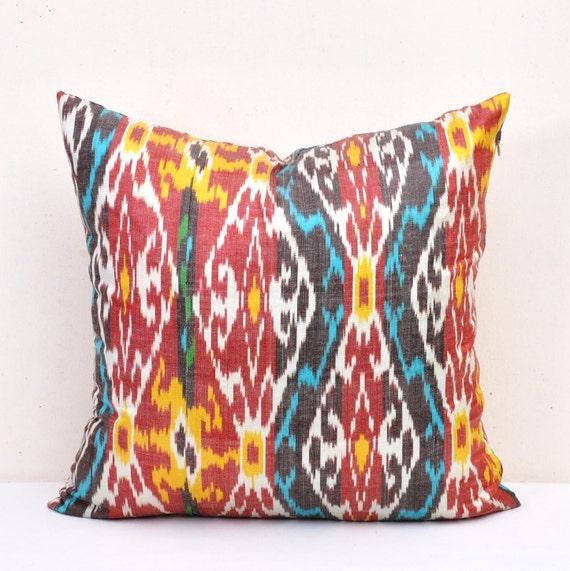 Ikat Throw Pillow Covers : Ikat Throw Pillow Covers Ikat Pillows Ikat Throw Pillow