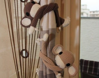 Amigurumi plush monkey