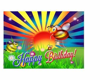 Busy Bee birthday Card