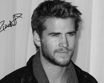 Liam Hemsworth signed photo print - 12x8 inch - high quality - n.o 1
