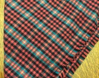 Black/teal/dark pink Flannel Blanket Scarf