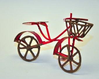 MiniGardenn Bicycle garden Miniature, red