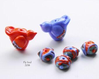 """Set beads """"2 bird"""" (6 beads)"""