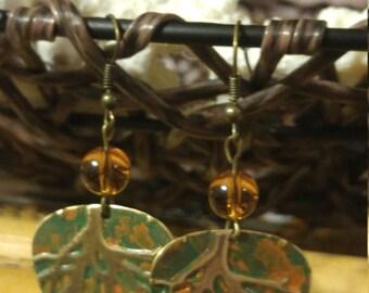 SALE** Handmade Metal Patina Earrings