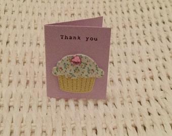 Handmade Mini ' Thank You' Card