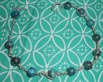 Handmade Turquoise and .925 silver bracelet